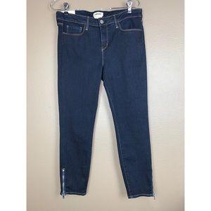L'AGENCE Emmanuelle Cropped Skinny Blue Jean 29